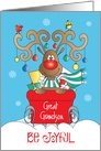 Christmas for Great Grandson, Reindeer with Antler Ornaments card