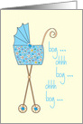 Congratulations on your new grandson with colorful stroller card