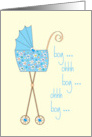 Congratulations on your new great grandson with colorful stroller card