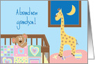 Congratulations for New Baby Grandson with Nursery and Animals card