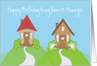 Birthday for Homegirl with Neighborhood of Cottages card