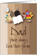 Hand Lettered Father's Day, You've Always Been There for Me card