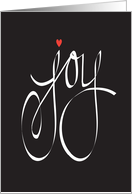 Hand Lettered Joy, You are the Joy in My Heart, with Red Heart card