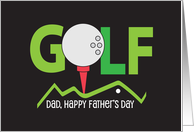 Father's Day for Dad with Golf Ball and Putter card