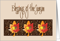 Canadian Thanksgiving, Trio of Red Maple Leaves card