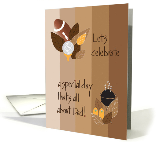 Father's Day Party Invitation, Leaves, Football, Grill... (1106550)
