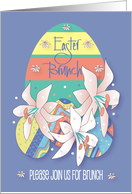 Easter Celebration Invitation, Stained Glass Cross and Easter Lilies card