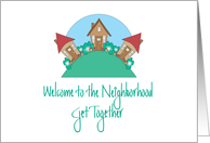 Welcome to the Neighborhood Invitation, Cottages on Hillside card