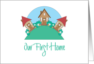 Our First Home Announcement, with Hillside of Cute Cottages card