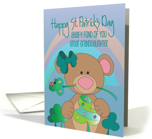 Great Granddaughter St. Patrick's with Bird & Shamrock Display card