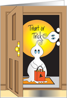 Halloween Treat or Trick with Goblins at the Door card