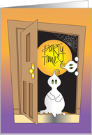 Halloween Let's Party Invitation, Goblins at Door card