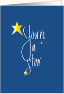 You're a Star, Handlettering with Stars card