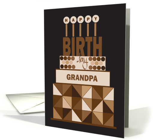 Birthday For Grandpa Trio Of Footballs On Brown And Green Card