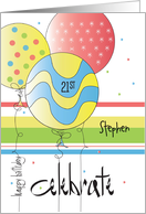 Birthday For 21 Year Old The Big With Polka Dot Candle Card