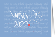 Hand Lettered Nurses Day 2019, Stethoscope with Nursing Qualities card