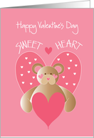 Valentines' Day for Child, Sweetheart with Bear and Hearts card