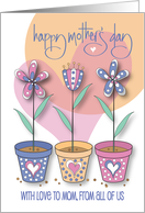 Hand Lettered Mother's Day from All your Children, floral bouquets card