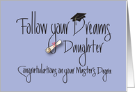 Master's Degree for Daughter Congratulations, with Diploma card