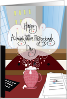 Hand Lettered Administrative Professionals Day, Desk & Computer card