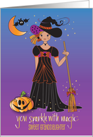 Halloween for Granddaughter, Cutest Trick or Treater card