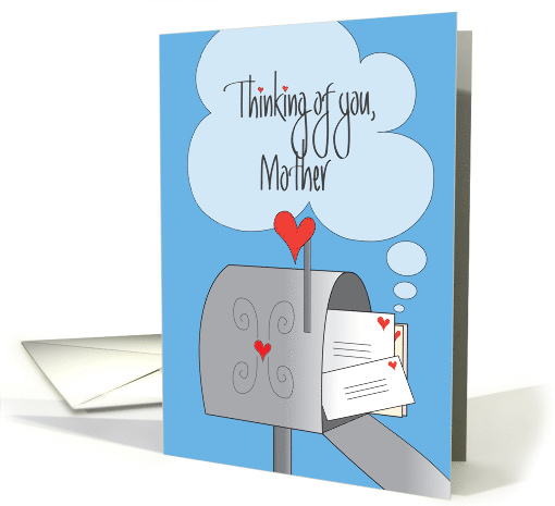 Thinking of You, Mother with Mailbox and Envelopes card (1307564)
