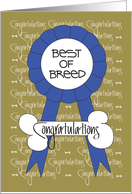 Congratulations for Dog Show for the Best of Breed Award card