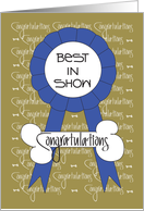 Congratulations for Dog Show Best in Show, With Blue Ribbon card