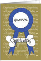 Congratulations for Dog Show General, With Ribbon card