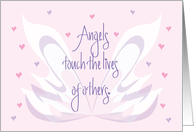 Friendship Card for an Angel of a Friend, Wings and Hearts card