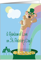 St. Patrick's Day for Kids, Rainbow of Love Bear card