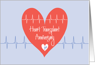 First Anniversary of Heart Transplant, So Happy for You card