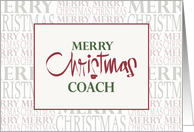 Hand Lettered Christmas for Coach, with Holiday Word Pattern card