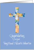 Congratulations Ordination as Transitional Diaconite with Cross card