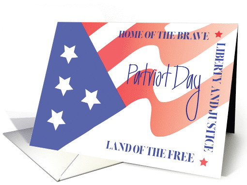 Hand Lettered Patriot Day, Flowing American Flag with... (1367790)
