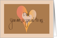 Father's Day for Dad from All of Us, Hearts, You are special to Us card