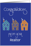 Congratulations from Realtor, Custom Option for NAR Members card