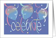 Congratulations, Hand Lettered with Colorful Confetti card