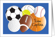 Congratulations School Sports Captain, Sports Balls for All Sports card