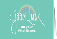 Good Luck on Final Exams, Hand Lettering with Rainbow card