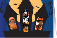 Halloween from Our House to Yours with Custom Photos card