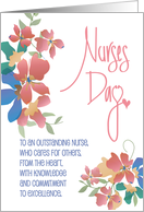 Hand Lettered Nurses Day 2019 with Graphic Stethoscope & Heart card