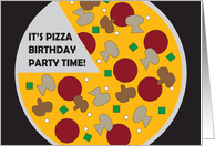 Birthday Party Invitation for Kids, Pizza Party with Pizza card