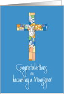 Congratulations Clergy Installation for Monsignor & Colorful Cross card