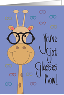 Congratulations for Glasses, Giraffe Wearing Latest Eye Wear card