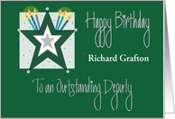 Birthday for Outstanding Deputy, Kelley Green with Star card