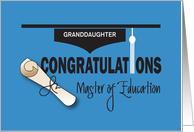 Graduation Master of Education, Diploma & Tassel with Custom Name card