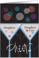 Wedding Anniversary Daughter & Daughter in Law, Cheers & Bubbles card