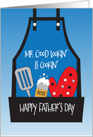 Father's Day for Dad from All of Us, Red Heart in Abstract Frame card