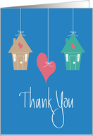 Thank you from Realty Firm, Two Houses,Heart & Hand Lettering card